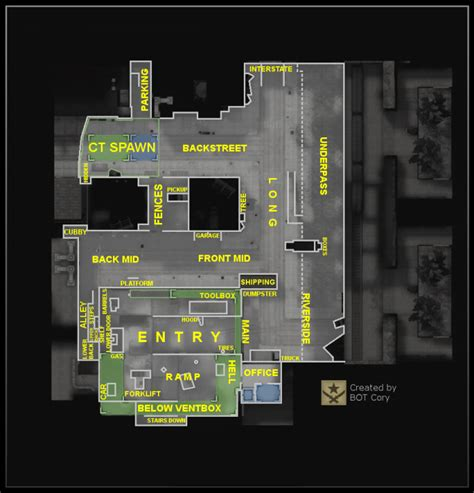 CS:GO All Map Callouts By Image: Dust2, Mirage, Overpass