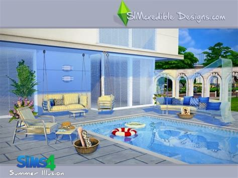 The Sims Resource: Summer Illusion by SIMcredible • Sims 4