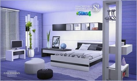 Concinnus bedroom at SIMcredible! Designs 4 » Sims 4 Updates