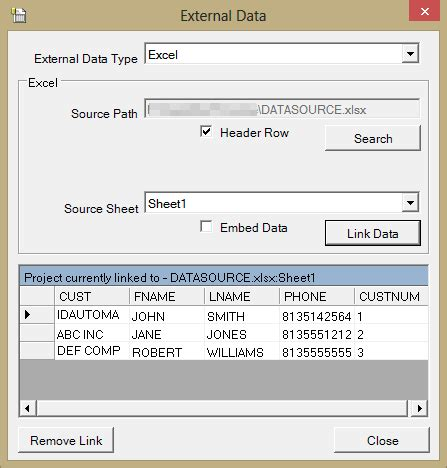 Variable Textbox in Barcode Label Software from Excel