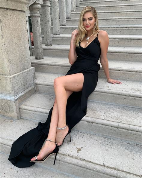 Kate Upton gorgeous in black evening gown, super sexy long